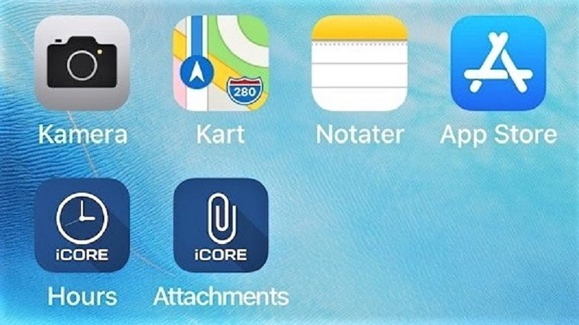iCORE Attachments app